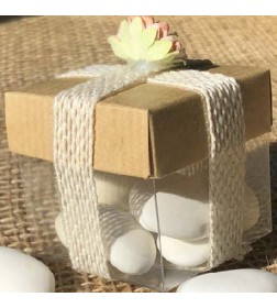 Crystal Cube And Ribbon