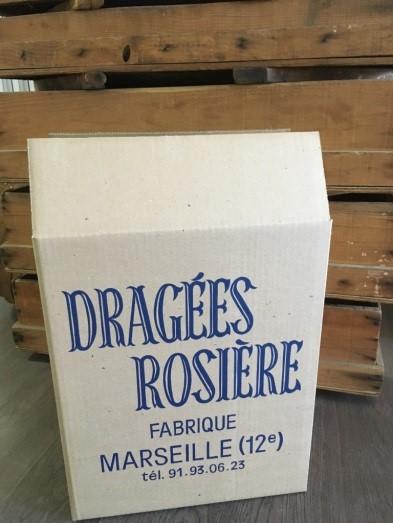 Cartons bleus pour ranger 4 boites de 5 kg